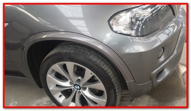 BMW X5 mag and wheel arch trim repair - GP Motor Works