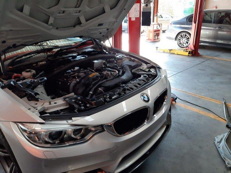 BMW M4 scheduled Oil & Brake Fluid Flush Service at GP Motor Works