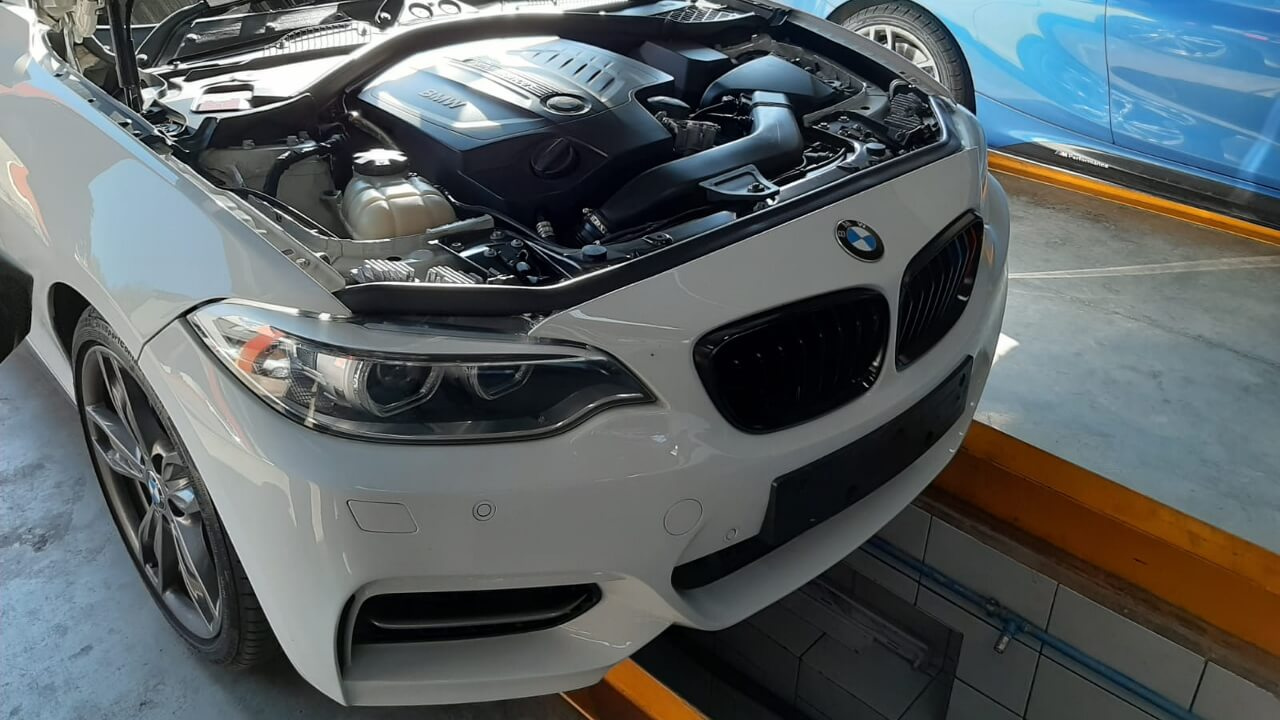 BMW M235 - oil leak, PDC faulty