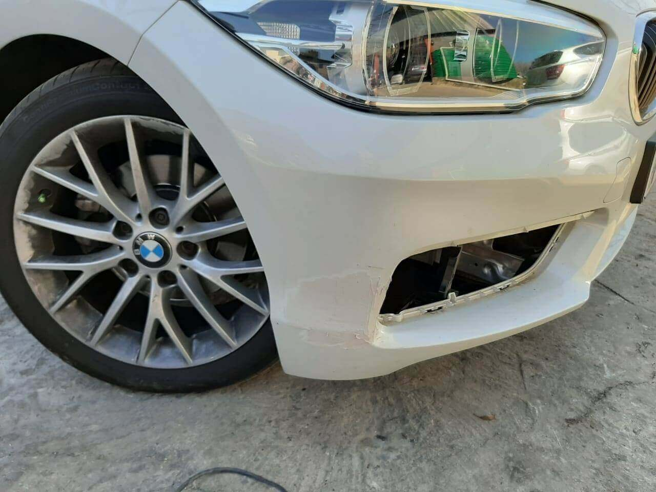 BMW - front bumper repairs by GP Motor Works