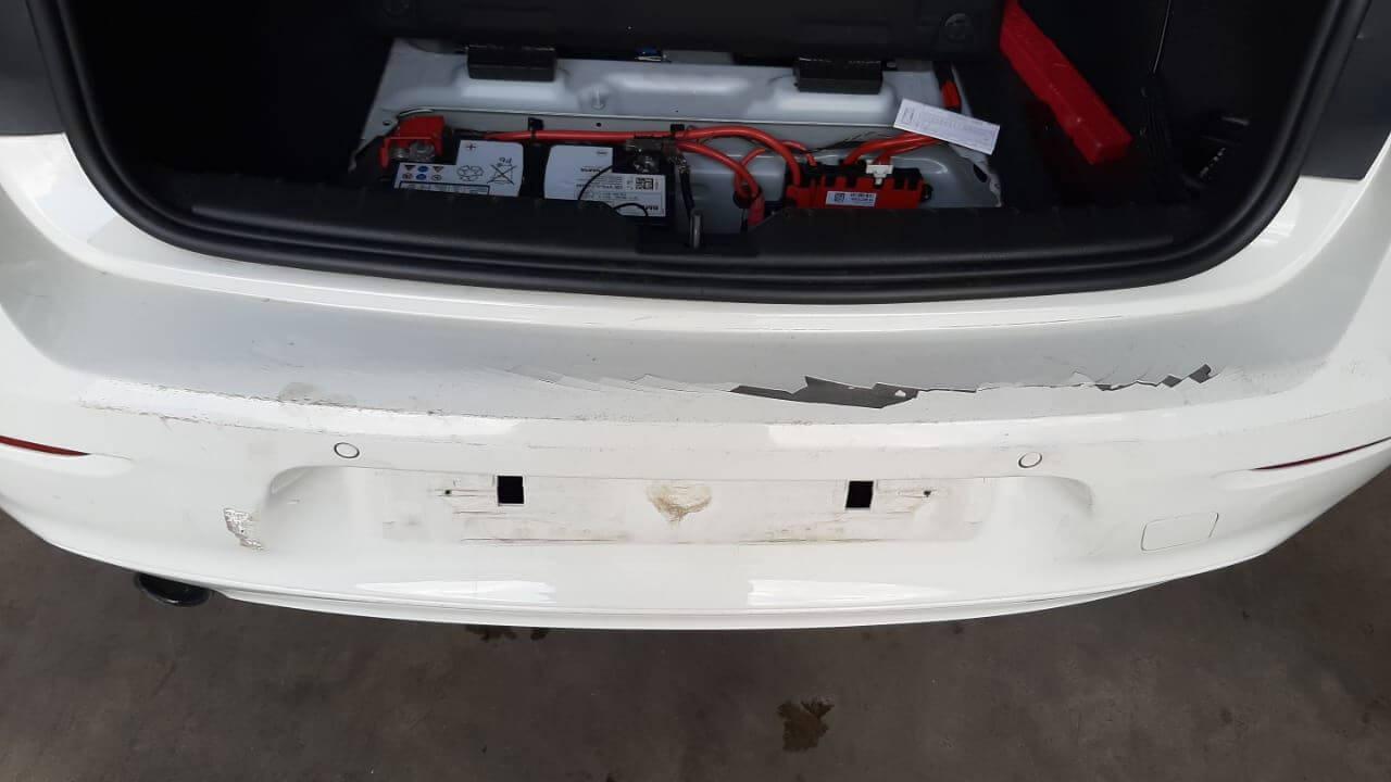 BMW - rear bumper damage in for repair at GP Motor Works