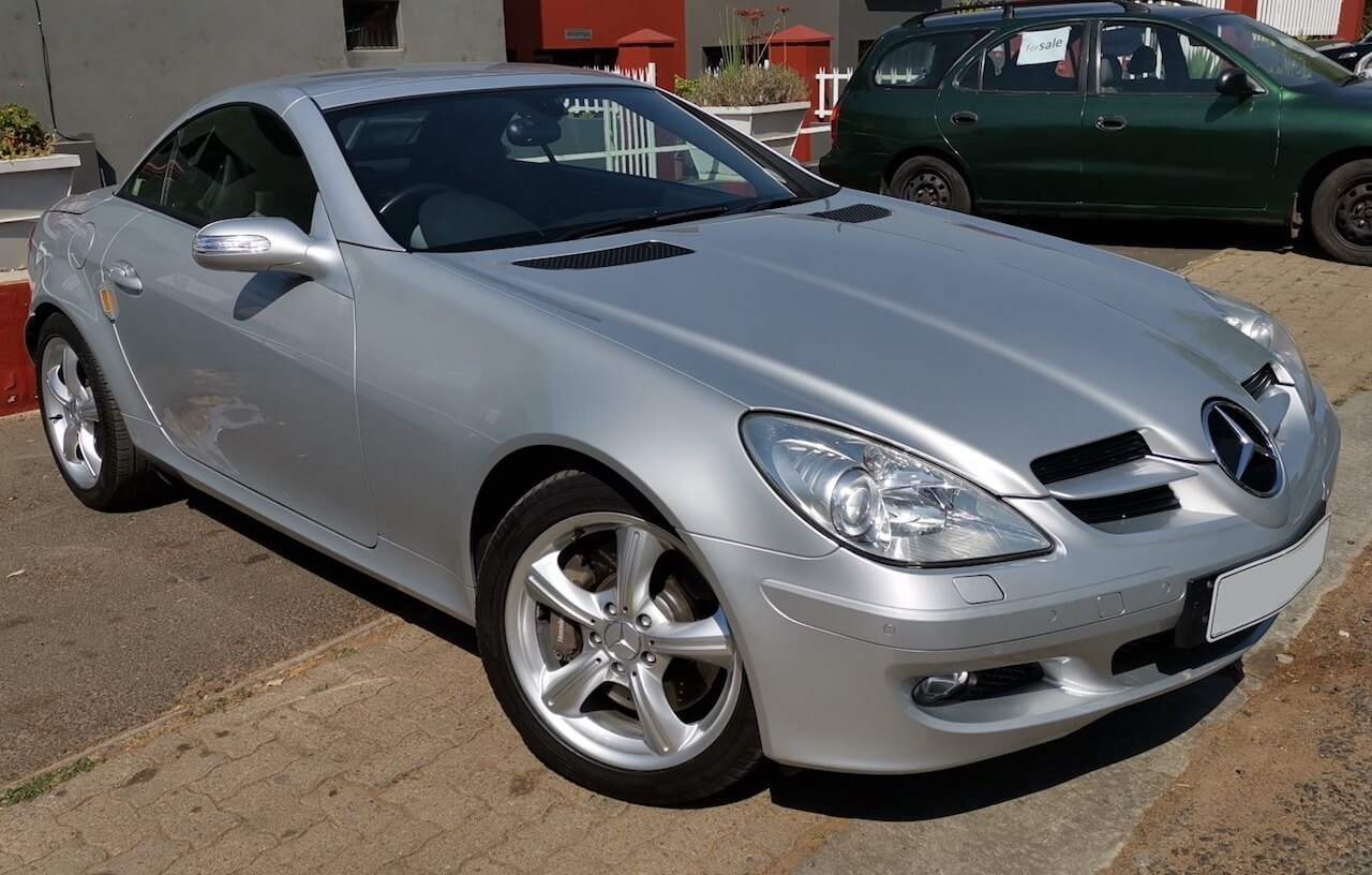 Mercedes Benz SLK 350 with wheel rim newly repaired and refurbished by GP Motor Works