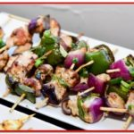 Chicken skewers with onions and peppers - MotorChef Cafe Launch