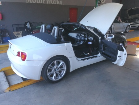 BMW Z4 Oil Service & Roof Repair - GP Motor Works