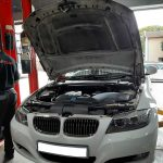 BMW 323i E90 facelift 2008 - engine compartment view - For sale at GP Motor Works