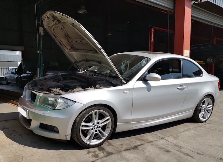 BMW 135i - water pump and thermostat repairs at GP Motor Works