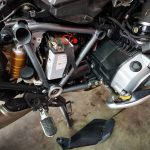 BMW R1200GS Motorcycle battery testing, full service and brakes service at GP Motor Works