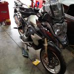 BMW R1200GS Motorcycle service, brakes and battery test at GP Motor Works