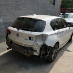 BMW 118i F20 panelbeating and paint respray of rear bumper at GP Motor Works
