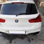 BMW 118i F20 panelbeating and paint respray of rear bumper & tailgate & right tail light replaced at GP Motor Works