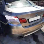 BMW 520i turbo back bumper damage repair and spray painted at GP Motor Works