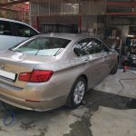 BMW 520i turbo recon and front and back bumper damage repair and spray painted at GP Motor Works